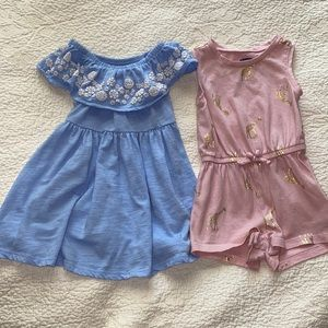 Girl's Old Navy Romper and Dress 12-18m